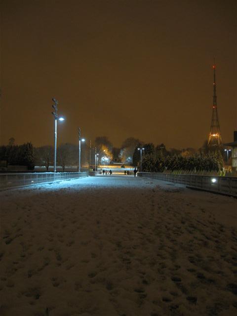 Snowy walkway.