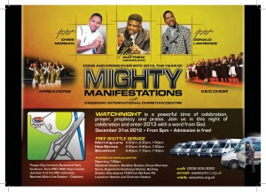 2012 KICC GLOBAL WATCHNIGHT MIGHTY MANIFESTATIONS EVENT ADVERT