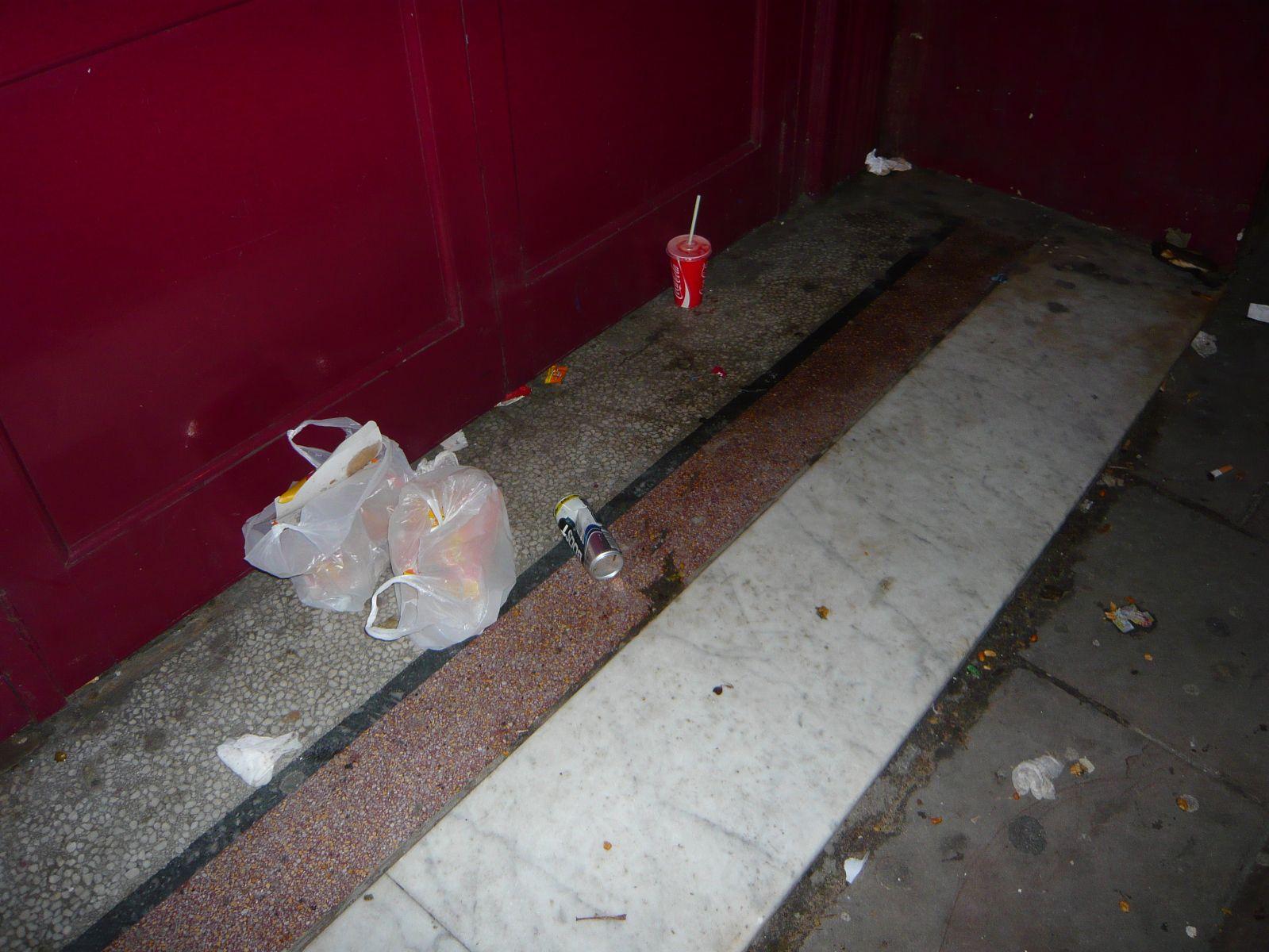 Rubbish outside 25 Church Road