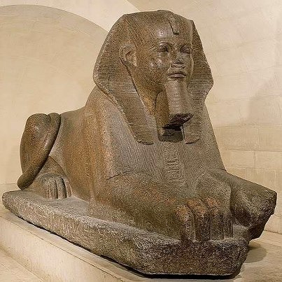 Original Sphinx At The Louvre