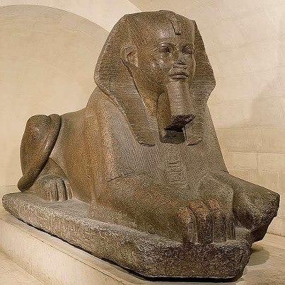 Original Sphinx At The Louvre