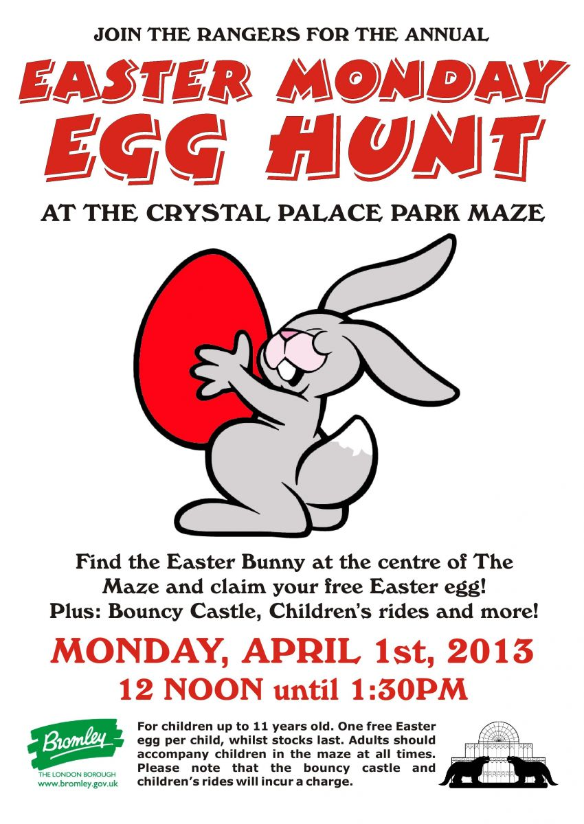CRYSTAL PALACE PARK EASTER EGG HUNT 2013
