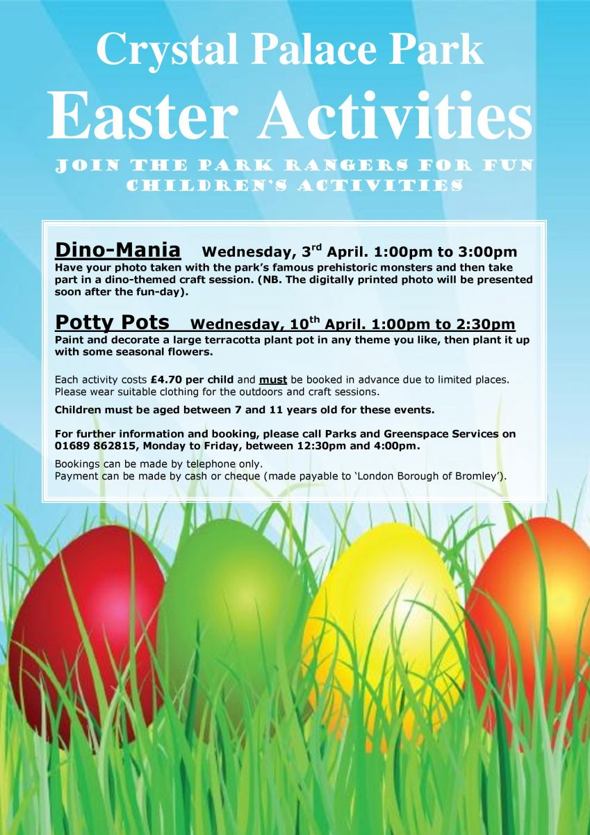 CRYSTAL PALACE PARK - EASTER ACTIVITIES 2013