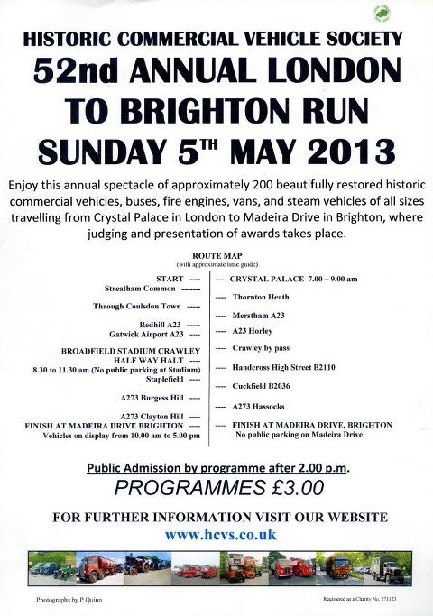 52nd Annual London To Brighton Run