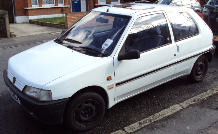 1994 PEUGEOT 106 KID (denim limited edition) white - auction 1 day