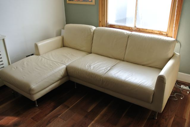 cream leather sofa with chaise lounge for sale items for
