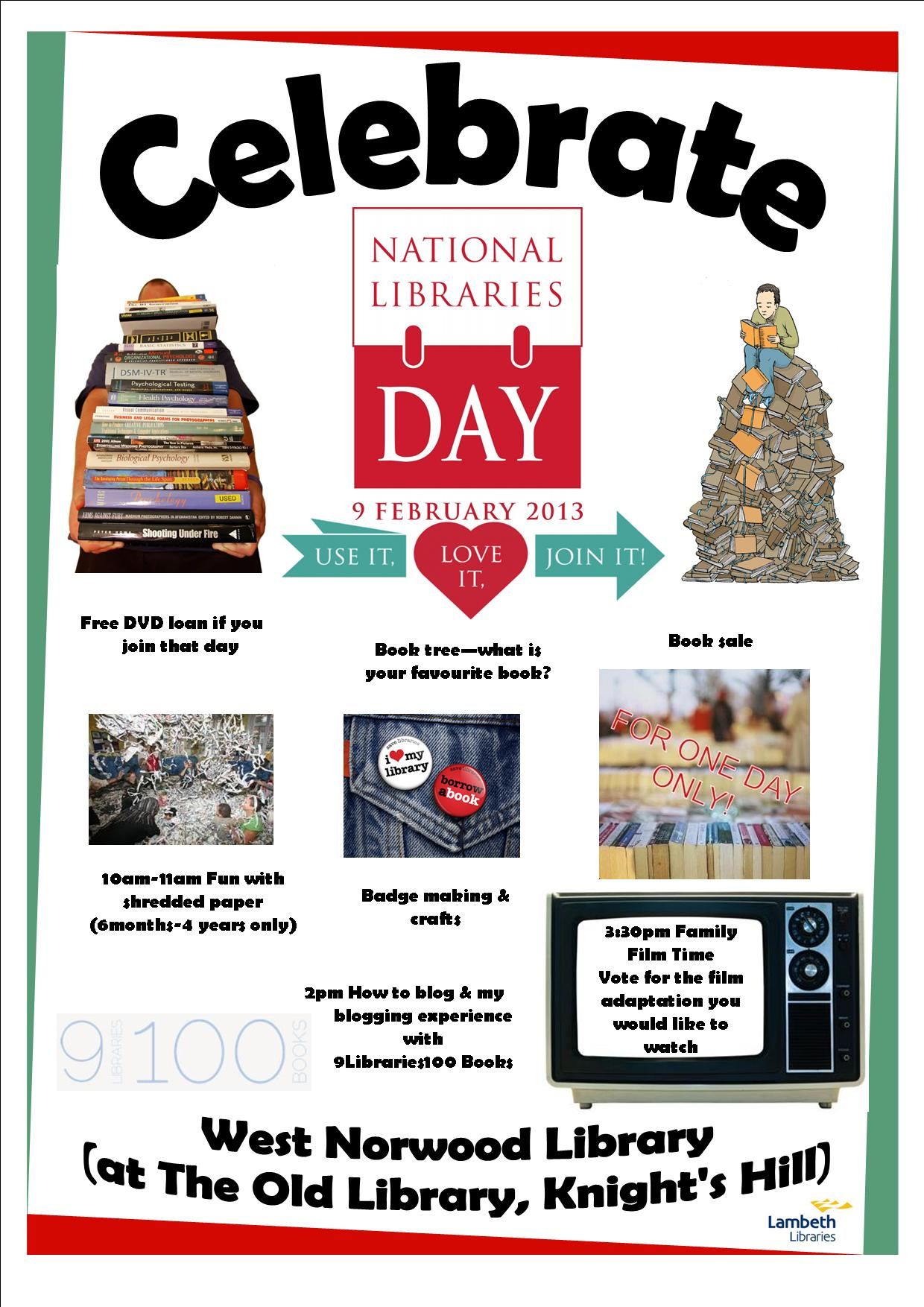 National Libraries Day 2013